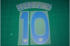 Arsenal Legend 13/14 #10 BERGKAMP 3rd AwayKit Nameset Printing