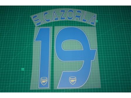 Arsenal 13/14 #19 S. CAZORLA 3rd AwayKit Nameset Printing