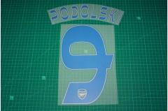 Arsenal 13/14 #9 PODOLSKI 3rd AwayKit Nameset Printing