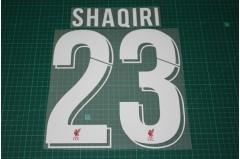Liverpool 18/19 #23 SHAQIRI Homekit Nameset Printing