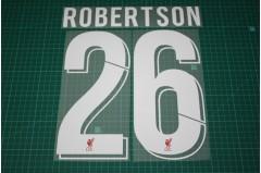 Liverpool 18/19 #26 ROBERTSON Homekit Nameset Printing