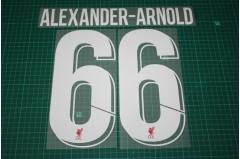 Liverpool 18/19 #66 ALEXANDER-ARNOLD Homekit Nameset Printing