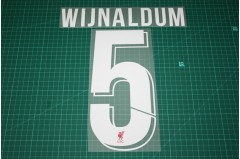 Liverpool 18/19 #5 WIJNALDUM Homekit Nameset Printing