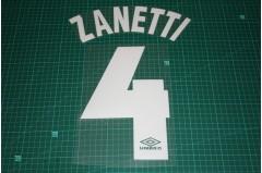 Inter Milan 97/98 #4 ZANETTI Homekit Nameset Printing