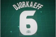 Inter Milan 97/98 #6 DJORKAEFF Homekit Nameset Printing