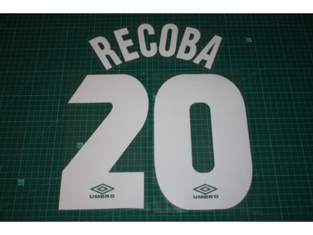 Inter Milan 97/98 #20 RECOBA Homekit Nameset Printing
