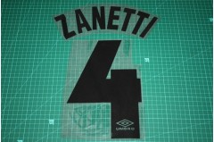 Inter Milan 97/98 #4 ZANETTI Awaykit Nameset Printing