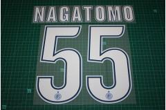 Inter Milan 12/13 #55 NAGATOMO Homekit / Awaykit Nameset Printing