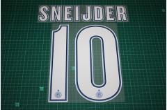 Inter Milan 12/13 #10 SNEIJDER Homekit / Awaykit Nameset Printing