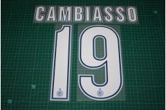 Inter Milan 12/13 #19 CAMBIASSO Homekit / Awaykit Nameset Printing