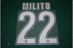 Inter Milan 12/13 #22 MILITO Homekit / Awaykit Nameset Printing