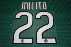 Inter Milan 09/10 #22 MILITO Homekit Nameset Printing