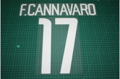 Inter Milan 02/04 #17 F. CANNAVARO Homekit Nameset Printing