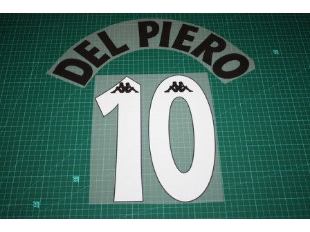 Juventus 97/98 #10 DEL PIERO Homekit Nameset Printing