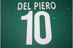 Juventus 00/01 #10 DEL PIERO Homekit / 3rd Awaykit Nameset Printing