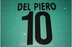 Juventus 00/01 #10 DEL PIERO Awaykit Nameset Printing