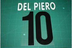 Juventus 02/03 #10 DEL PIERO Homekit Nameset Printing