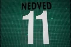 Juventus 01/02 #11 NEDVED Homekit Nameset Printing