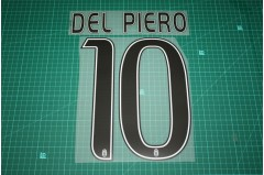 Juventus 16/17 Legend #10 DEL PIERO Homekit / Awaykit Nameset Printing