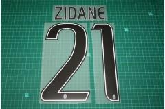 Juventus 16/17 Legend #21 ZIDANE Homekit / Awaykit Nameset Printing
