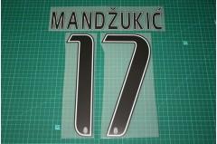 Juventus 15/16 #17 MANDZUKIC Homekit / Awaykit Nameset Printing