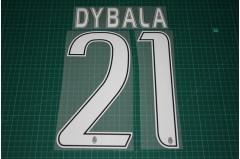 Juventus 16/17 #21 DYBALA 3rd Awaykit Nameset Printing