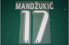 Juventus 16/17 #17 MANDZUKIC 3rd Awaykit Nameset Printing