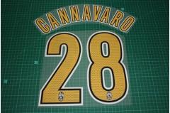 Juventus 05/06 #28 CANNAVARO Homekit Nameset Printing