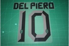 Juventus 10/11 #10 DEL PIERO Awaykit Nameset Printing