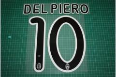 Juventus 09/10 #10 DEL PIERO Awaykit Nameset Printing