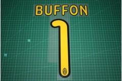 Juventus 09/10 #1 BUFFON Homekit / Awaykit / 3rd Awaykit Nameset Printing