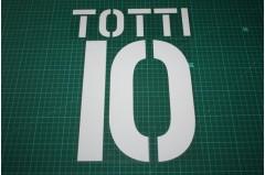 Roma 03/04 #10 TOTTI Homekit Nameset Printing