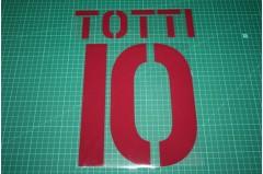 Roma 03/04 #10 TOTTI Awaykit Nameset Printing