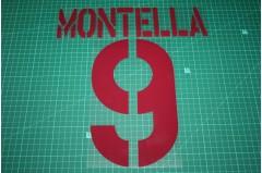 Roma 03/04 #9 MONTELLA Awaykit Nameset Printing