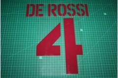 Roma 03/04 #4 DE ROSSI Awaykit Nameset Printing