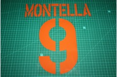 Roma 03/04 #9 MONTELLA 3rd Awaykit Nameset Printing