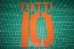 Roma 03/04 #10 TOTTI 3rd Awaykit Nameset Printing