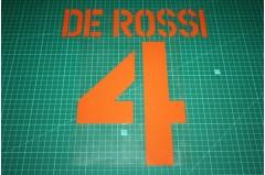Roma 03/04 #4 DE ROSSI 3rd Awaykit Nameset Printing