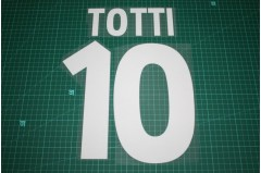 Roma 00/01 #10 TOTTI Homekit Nameset Printing