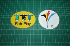 UEFA EURO 2000 and FAIR PLAY BADGES (PLASTIC)