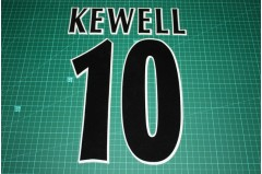 UEFA Champions League Player Size Name & Numbering Printing #10 KEWELL