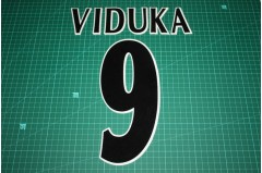 UEFA Champions League Player Size Name & Numbering Printing #9 VIDUKA
