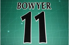 UEFA Champions League Player Size Name & Numbering Printing #11 BOWYER