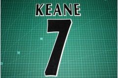UEFA Champions League Player Size Name & Numbering Printing #7 KEANE