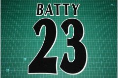 UEFA Champions League Player Size Name & Numbering Printing #23 BATTY