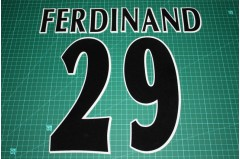 UEFA Champions League Player Size Name & Numbering Printing #29 FERDINAND