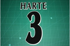 UEFA Champions League Player Size Name & Numbering Printing #3 HARTE