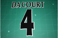 UEFA Champions League Player Size Name & Numbering Printing #4 DACOURT