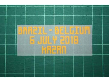 BELGIUM World Cup 2018 Home Shirt Match Details BRAZIL Vs BELGIUM
