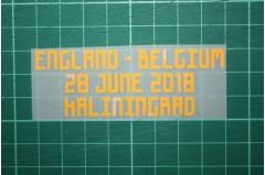 BELGIUM World Cup 2018 Home Shirt Match Details ENGLAND Vs BELGIUM